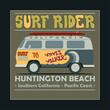 Surfing t-shirt graphic design. Vintage Retro Surf BUS. Huntingt - 80629429