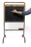 writing on vintage blackboard