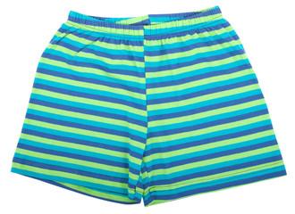 Child sports shorts. Isolated on white background