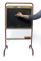 writing on vintage blackboard