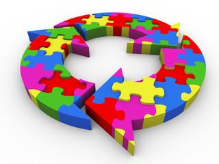 3d flow diagram puzzle