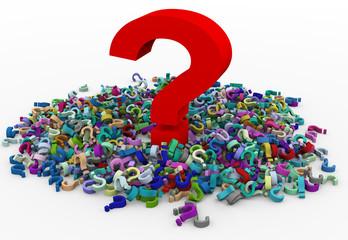 3d heap of question marks