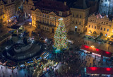 Old Town (Staromestska) square, Prague, Czech Republic, December