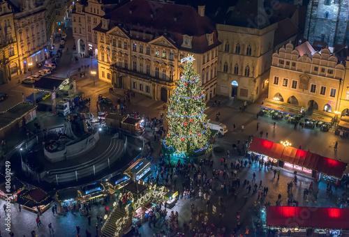 Staande foto Praag Old Town (Staromestska) square, Prague, Czech Republic, December