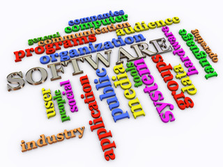 3d software wordcloud