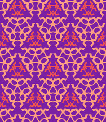 psychedelic abstract colorful violet red cream seamless pattern.