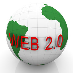 3d globe and web 2.0