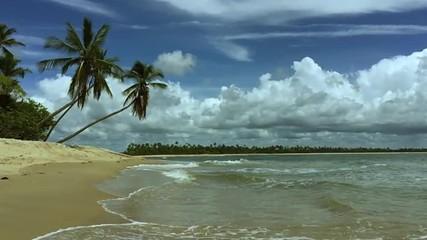 Rustic Brazilian Beach Slow Motion