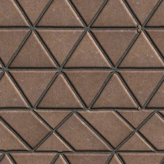 Brown Pave Slabs in the Form of Triangles and Other Geometric