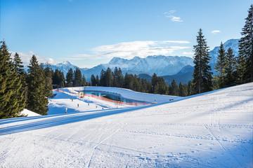 Garmisch-Partenkirchen ski resort, Bavarian Alps, Germany, 07.01