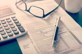 Photo: Individual income tax return form,