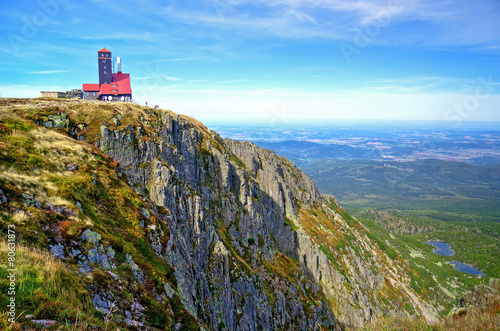 Mountain landscape. Relay in Karkonosze, Poland. - 80631873