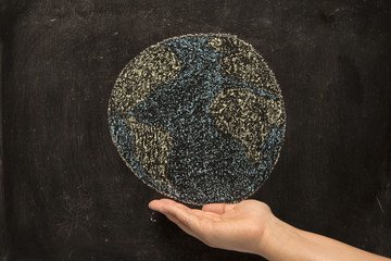 holding the world on blackboard