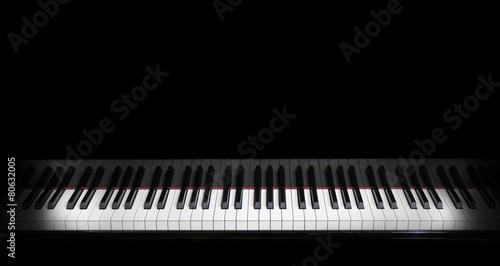 Leinwandbild Motiv piano keys on black piano