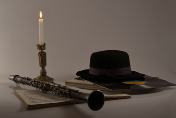 Clarinet and black hat