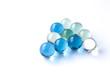 Billes de verre bleu, vert et transparent 2 - 80633671