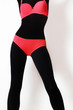 Lingerie red and black underwear