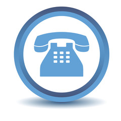 Blue Telephone icon