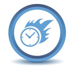 Blue Hot clock icon
