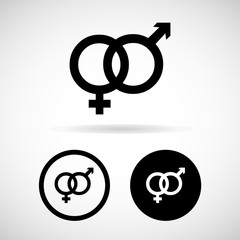 Vector gender symbol sign