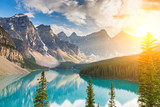 Moraine lake in summer at canada