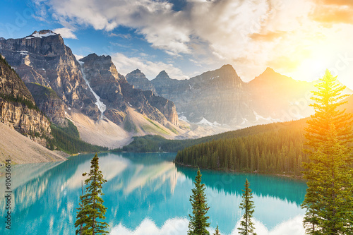 Moraine lake in summer at canada © rcfotostock