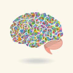 Geometric abstract brain