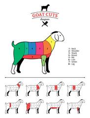 Goat Cuts Diagram