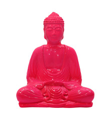 buddha statuette isolated on a white background