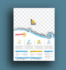 Laundry Service Flyer & Poster Template.