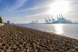 Leinwandbild Motiv Hamburg Elbe Hafen Panorama