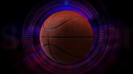 Rotating Basketball Ball as 3d Animated Sports Motion Graphics