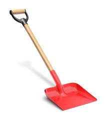 Red shovel