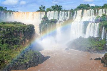 Iguazu falls on the border of Argentina and Brazil