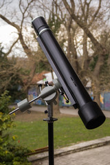 Telescope outside on a sunny day