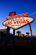 Welcome to Fabulous Las Vegas sign at night, Nevada - 80642635