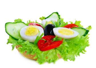 Fresh egg sengvich cucumber