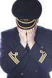 Crying pilot in uniform - 80643256