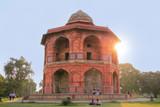 Humayuns private library with a sunburst, Purana Qila, New Delhi