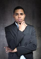 portrait pensive businessman