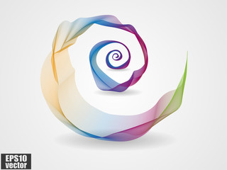 Abstract colorful spiral wave vector background