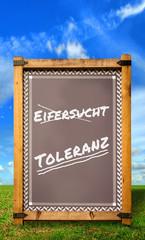 Strassenschild 34 - Toleranz