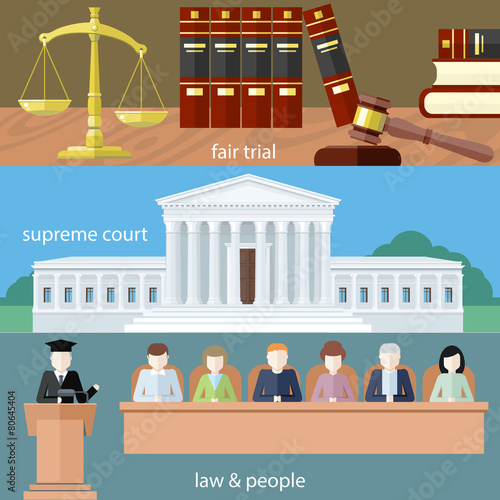 Fair trial. Supreme court. Law and people - 80645404