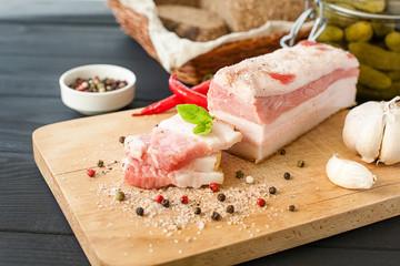 Salty spiced lard, Ukrainian cuisine