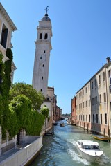 Slanting tower in Venice, Italy