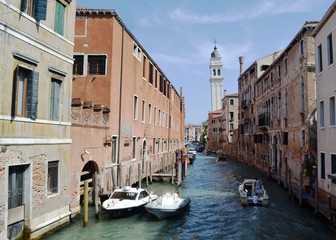 Water canal in Venice, Italy
