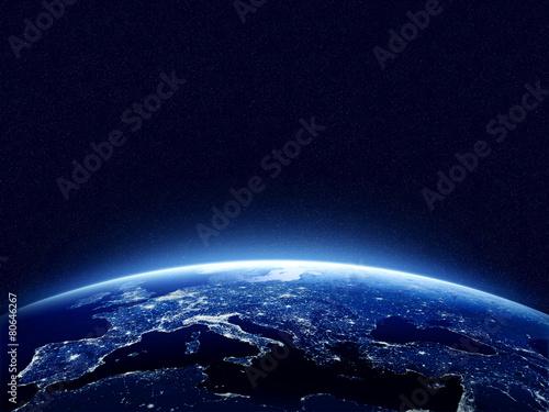 Fototapeta Earth at night