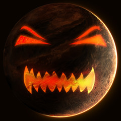 Planet with evil face