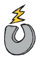 doodle horseshoe magnet