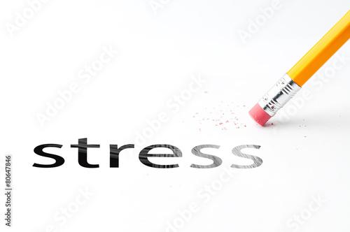 Leinwanddruck Bild Pencil with eraser